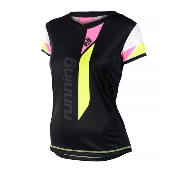 Running Shirt V Short Sleeves Women
